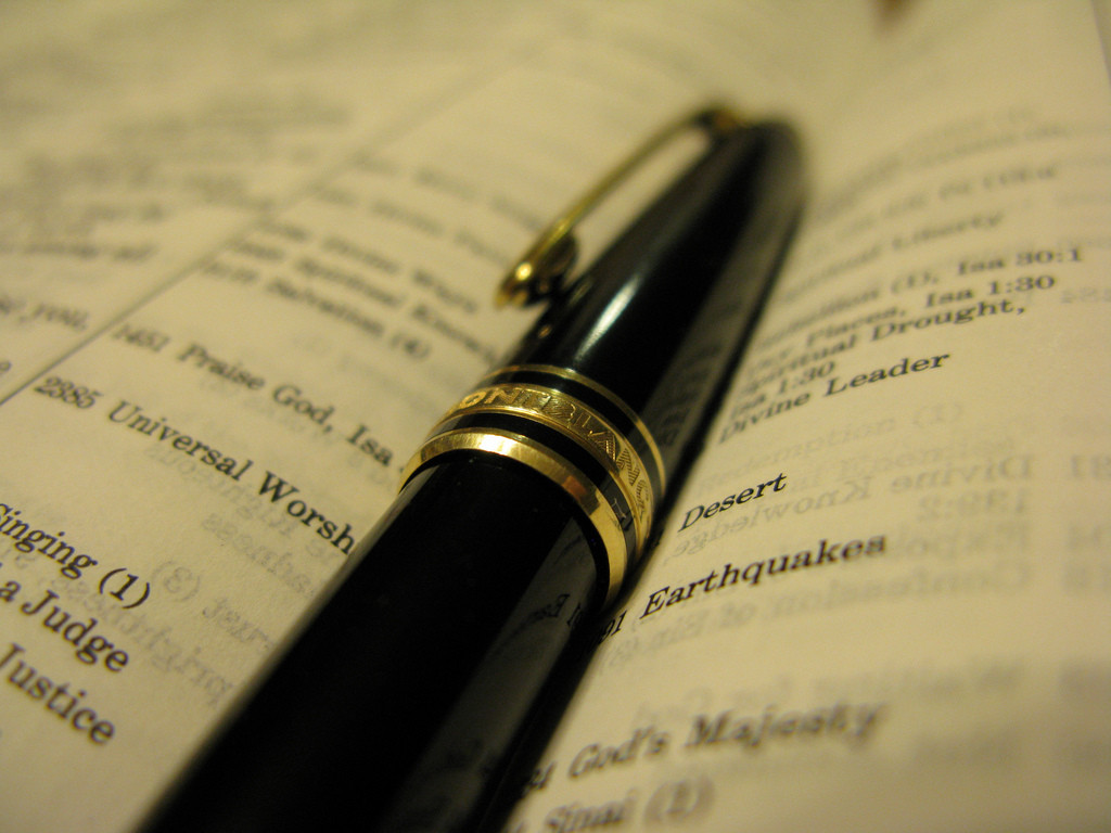Making Goals for the New Year: Writing Scripture