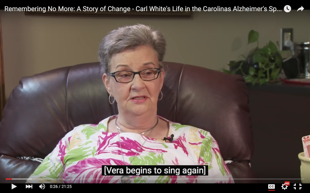"Remembering No More: A Story of Change – Carl White's ""Life in the Carolinas Alzheimer's Special"""